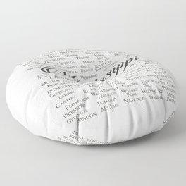 Mississippi Floor Pillow