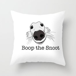 Boop the Snoot Borzoi Wolfhound Throw Pillow