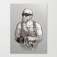 engineer Canvas Prints featuring Engineer by Kata (koomalaama)