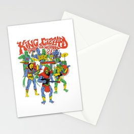 king gizzard and the lizard wizard Stationery Cards
