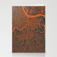philadelphia Stationery Cards featuring Philadelphia 2 by Map Map Maps