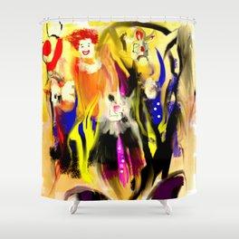 Clowns Shower Curtain