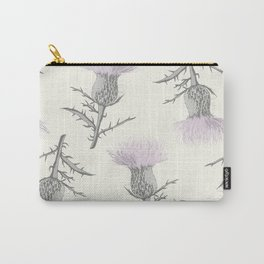 PASTEL THISTLE FLOWER Carry-All Pouch