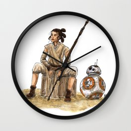 Rey & BB-8 #2 Wall Clock