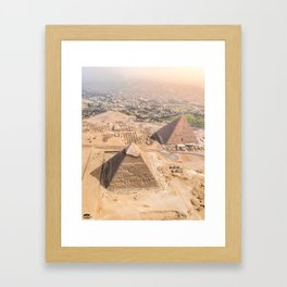 The Great Pyramids Of Egypt Framed Art Print
