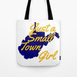 Blue & Gold WV Girl Tote Bag