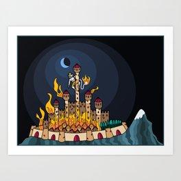 Burning Lanka Art Print