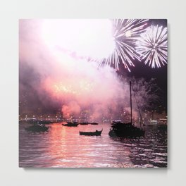 Fireworks on the harbour  Metal Print