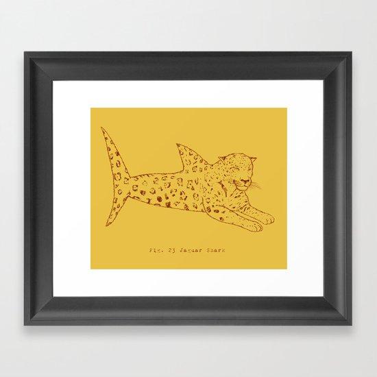 Jaguar Shark Framed Art Print