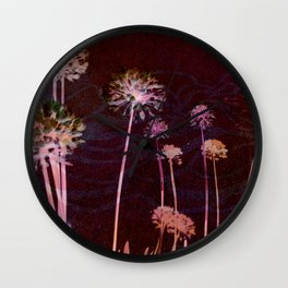 day glo: cosmic florals Wall Clock