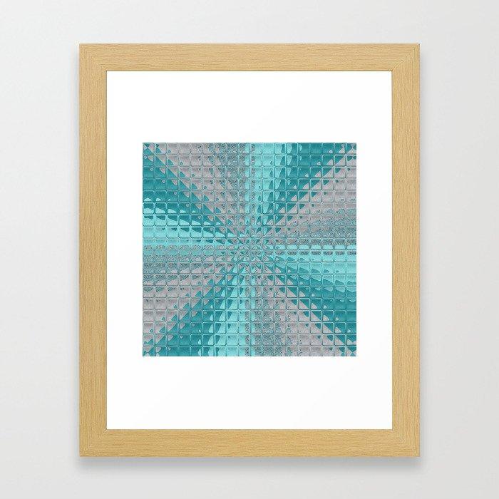 Aqua Reflections Framed Art Print