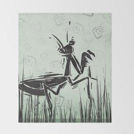 Praying Mantis by Kathy Morton Stanion Throw Blanket