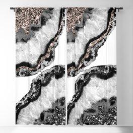 Yin Yang Agate Glitter Glam #1 #gem #decor #art #society6 Blackout Curtain