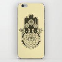 hamsa iPhone & iPod Skins featuring Hamsa by Joel Amat Güell