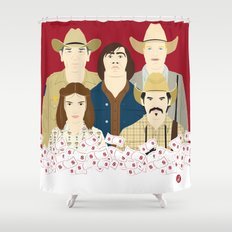 The Country Of Living Dangerously (Faces & Movies) Shower Curtain