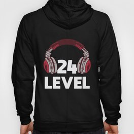 Gamer Gaming 24th Birthday Present Video Game Hoody