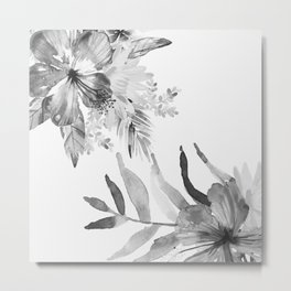 Vintage tropical flowers Metal Print