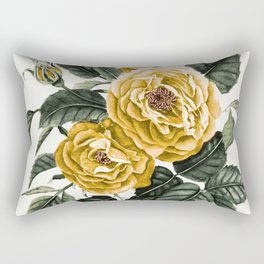 Yellow Roses Rectangular Pillow