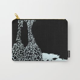 Art print: The giraffes in Blue Carry-All Pouch
