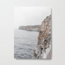 Coastal Ocean Cliff Rocks  Metal Print