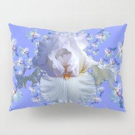 BLUE-WHITE IRIS ABSTRACT PATTERN Pillow Sham