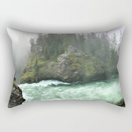 Yellowstone Falls Fog Rectangular Pillow