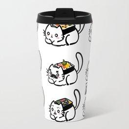 Cat Sushi Installation 1 Travel Mug