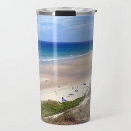 Perranporth Beach Cornwall Travel Mug
