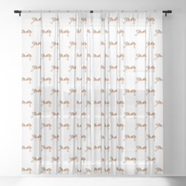 Shitake Mushroom Eat Your Veggies Wall Art Print Sheer Curtain