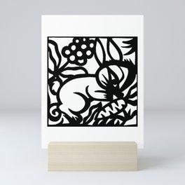 Chinese Zodiac Paper Cutting The Year of Rabbit Mini Art Print