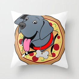 Pizza Puppy Throw Pillow