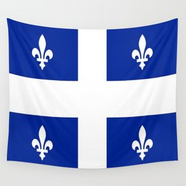 Flag of Quebec Wall Tapestry