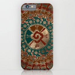 Hunab Ku Gold Red and Teal iPhone Case