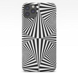 Black And White Retro Optical Illusion iPhone Case