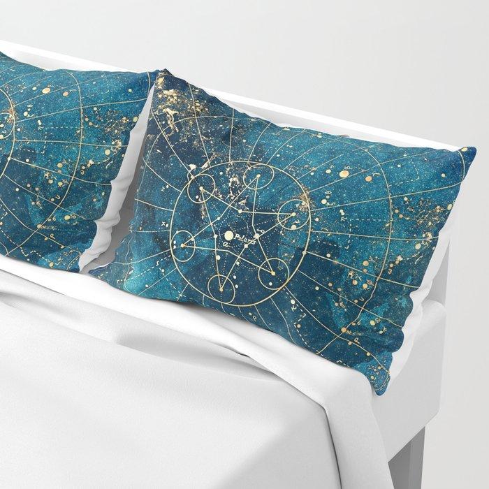 Star Map :: City Lights Pillow Sham