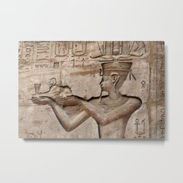 Horus and Temple of Edfu Metal Print