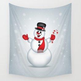 Snowman Christmas Art - 142 Wall Tapestry