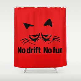 No drift No fun v5 HQvector Shower Curtain