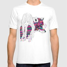 ▲SHE-WOLF▲ White Mens Fitted Tee LARGE