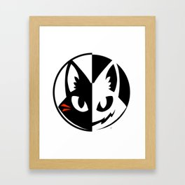 Neko Mata Circle Framed Art Print