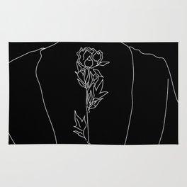 Feminine Floral Back Tat Rug