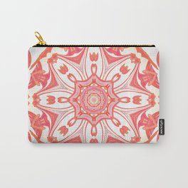 Romantic Peach Mandala Design Carry-All Pouch
