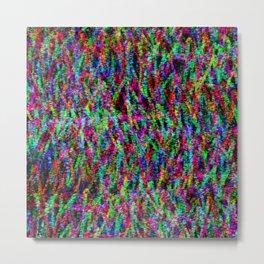 Neon Scribble Metal Print