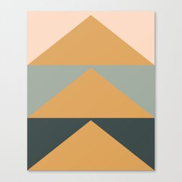Triangles in Blush, Gray, and Honey Canvas Print