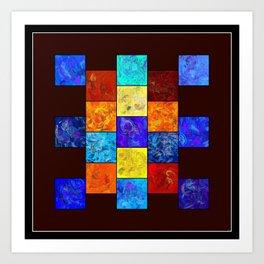 Ecleptios - colourful world Art Print