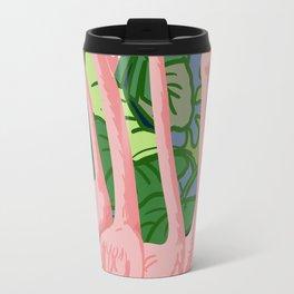 Pink Flamingos Travel Mug