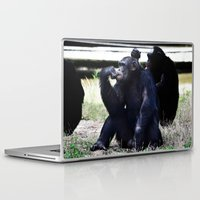 planet of the apes Laptop & iPad Skins featuring Social Apes by 100 Watt Photography