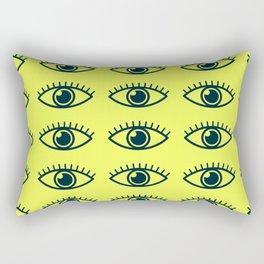eye ball central yellow Rectangular Pillow
