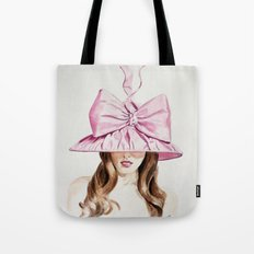 Pink Derby Hat Tote Bag