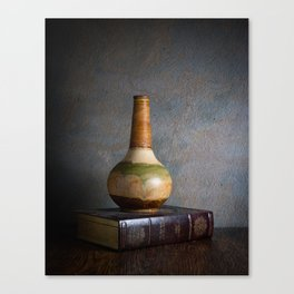 Vase and Book Canvas Print